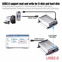 MiraBox Poe HDMI USB KVM Extender без задержки 60 80 м KVM Extender по rj45 один Cat5e/ 6 кабель Ethernet Поддержка Poe u диск