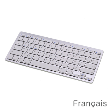 """20pcs French Bluetooth Wireless Mini Keyboard for Phone/Tablets/iPad Pro/Surface Pro Support Windows / Android / Mac """"AZERTY"""""""