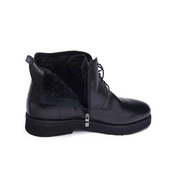 Jackmiller Top Brand Winter Men Boots Cow Leather Wool Warm Lace-Up Leather Ankle Boots for Men Black Fashion Boots Size 40-44