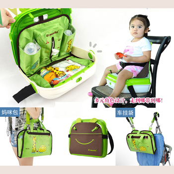 3 in 1 Portable Baby Booster Seat Bag, Baby Dinner Seat with Mami Bag, ultra light baby feed chair bag bb booster seat