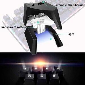 Image 3 - Mechaniczna klawiatura gamingowa 87/104 klawisze rosyjski/angielski USB przewodowa podświetlana LED gra klawiatury niebieski/czerwony przełącznik dla graczy komputerowych