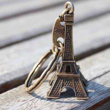 2018 Promotion Echt Clef Eiffelturm Keychain Schlüssel Souvenirs Paris Tour Kette Ring Dekoration Halter Schlüssel Kette Frauen Schlüssel Ketten