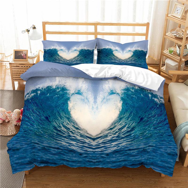 3D набор постельного белья для серфинга в океане, пододеяльник, одеяло, комплекты постельного белья, домашнее текстильное постельное белье,