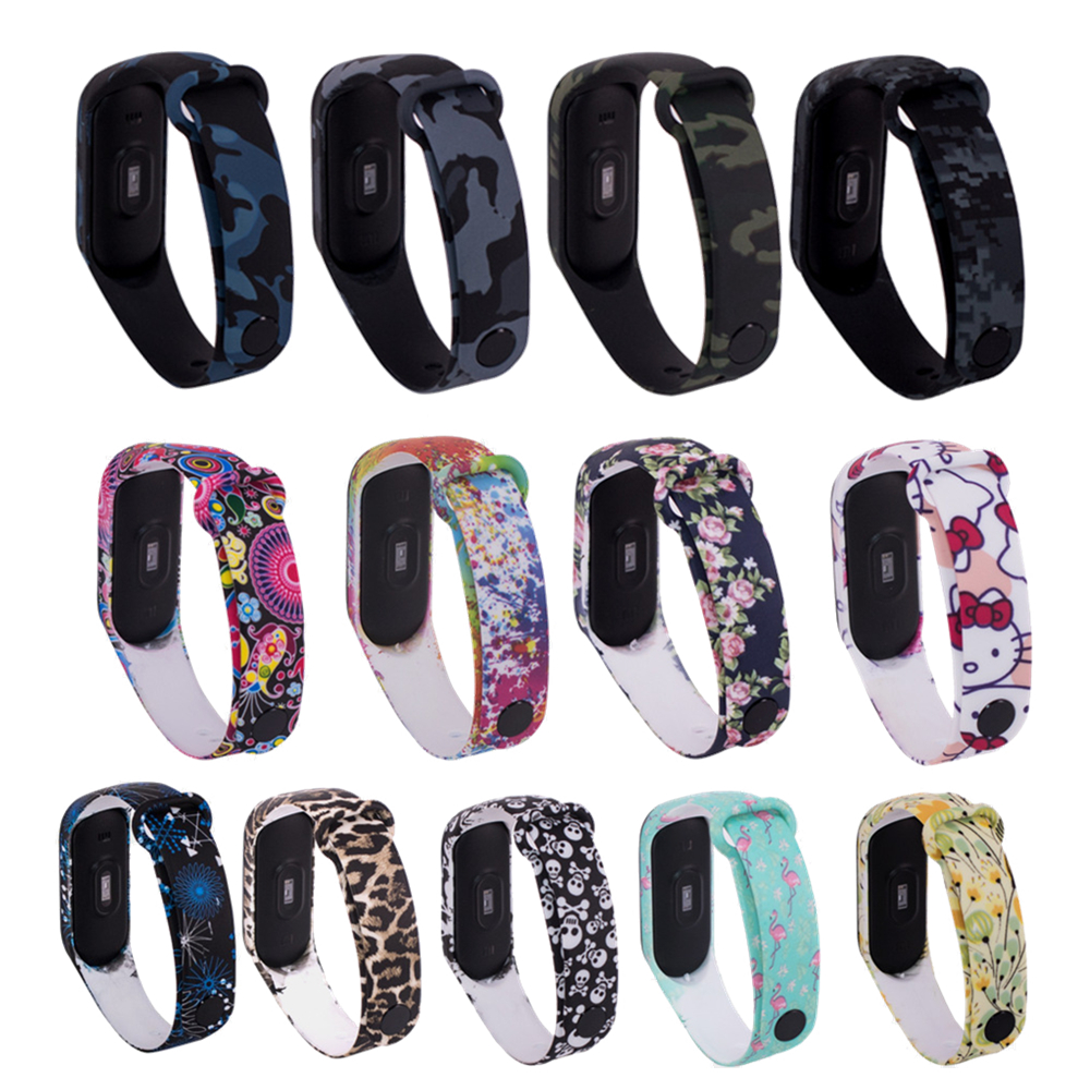 Wrist Strap For Xiaomi Mi Band 4 Smart Wristband Fitness Tracker Sports Silicone Bracelet For Mi Band 4 / 3 Replacement Mi Band3