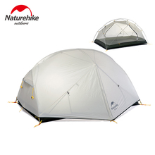 Naturehike Tourist Hiking Ultralight Tent 2 Person Waterproof 20D Silicon Double Layer 3 Season Outdoor Camping Tents NH17T007-M цена