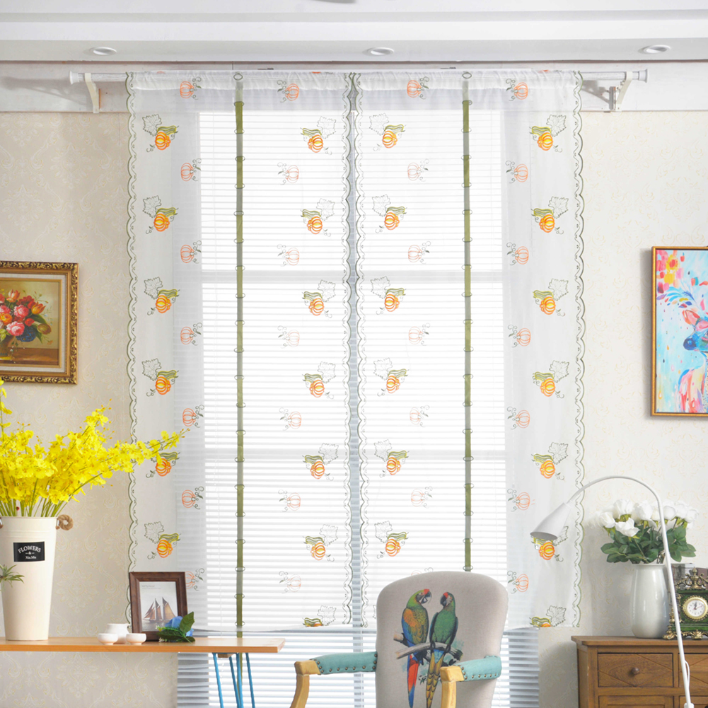 summer prevent mosquito calabaza fruta serie bordado cortina romana cortina dormitorio balcn cortina de ventana