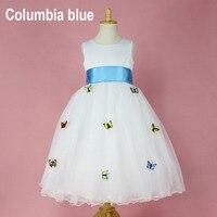 Изысканная детская одежда белый элегантный цветок Платья для девочек Первого Причастия платье для маленьких девочек вечернее платье для о...