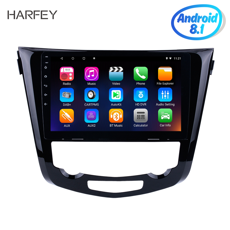 Harfey 10 1 Android 8 1 Radio for Nissan QashQai X Trail 2014 Bluetooth car multimedia