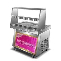 Fried ice cream machine commercial matcha Frying ice cream rolls Maker automatic stir fried yogurt machine