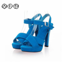 Hot Sale 2017 New Brand High Heels Sandals Summer Platform Sandals For Women Fashion Buckle Thick