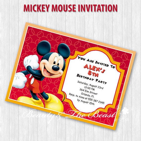 Personalized mickey party invitations mickey invites birthday party personalized mickey party invitations mickey invites birthday party decorations kidsparty suppliescany filmwisefo