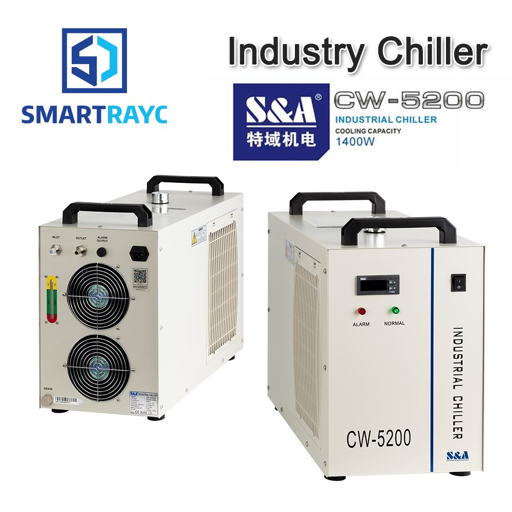 Smartrayc S&A CW5200 CW5202 Industry Air Water Chiller for CO2 Laser Engraving Cutting Machine Cooling 150W Laser Tube laser fce teacher s book