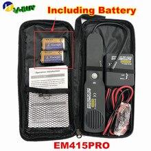 EM415PRO Автомобильный Кабель провод короткий детектор Открытый цифровой искатель инструмент для ремонта автомобиля Tracer Диагностика тон линии Finder EM415 PRo