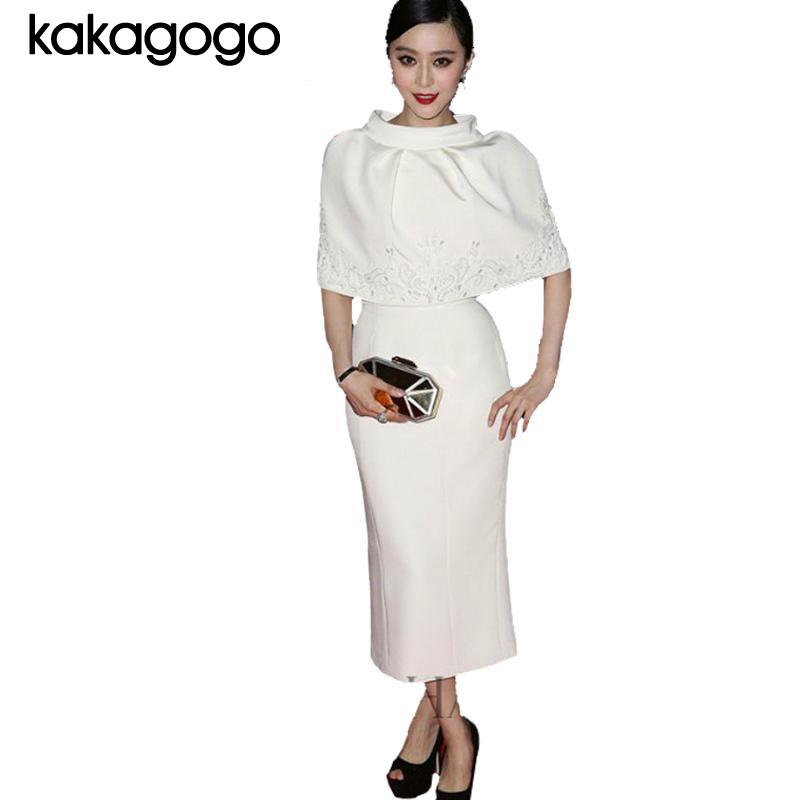 D401 top runway spring summer fashion official casual for Womens white dress suit wedding