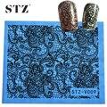 1 unids uñas decoraciones láminas llena atractiva del cordón de consejos para Nail Beauty Nail Art Sticker calcomanías de transferencia de agua manicura herramientas de peinado STZV09