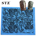 1pcs Nail Decorations Foils Sexy Lace Full Tips for Beauty Nail Art Sticker Decals Water Transfer Manicure Styling Tools STZV09