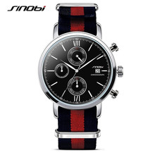 SINOBI Elegant Style Fashion Watch Women Men Fabric Strap Simple Casual Wristwatch Ladies Popular Clock Relogio Feminino F17