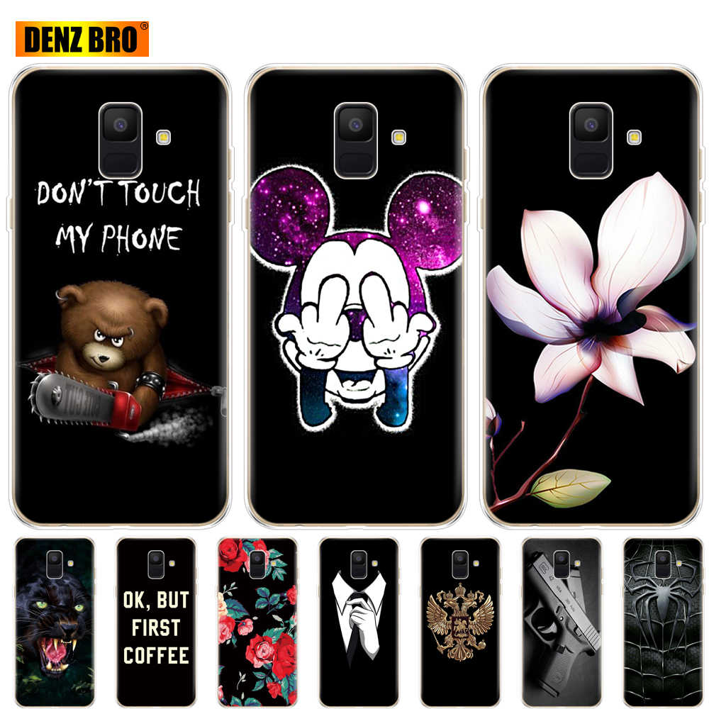 For Samsung Galaxy A6 2018 case Dual SIM SM A600 A600F for samsung A6 plus 2018 A605 A605F case painting protective coque bumper