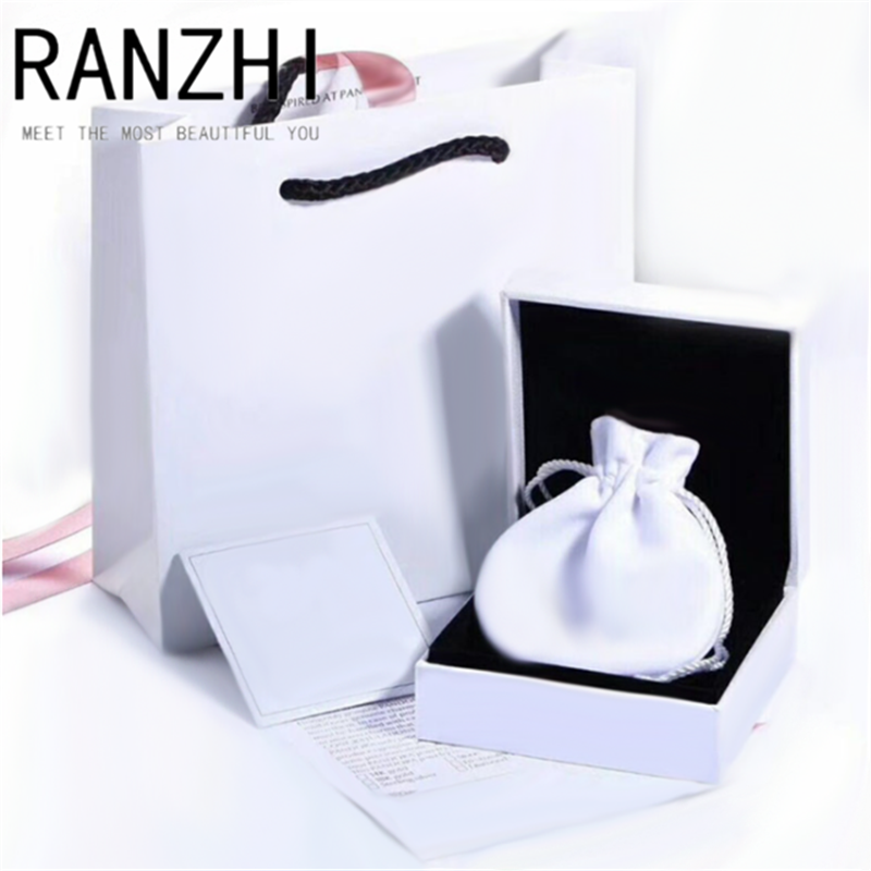 RANZHI PAN Authentic original hot new 925 sterling silver 1:1 box logo set female DIY jewelry party fashion gift jewelry set