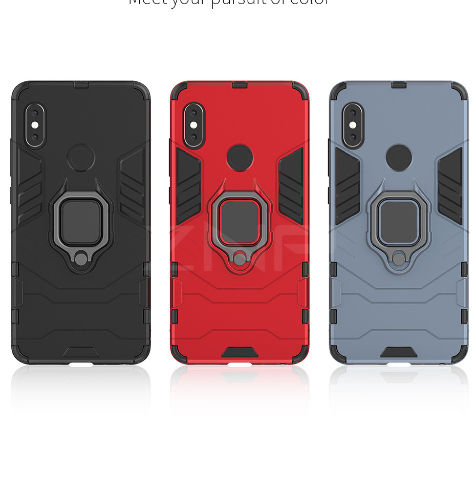360 Armor Protective Phone Case For Xiaomi Redmi Note 4 4X 5 Pro Shockproof Kickstand Cover Shell For Redmi 6 Pro Cases Capa