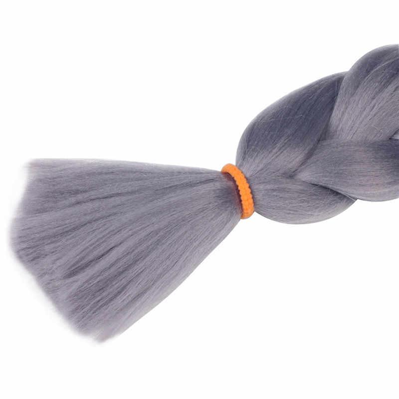 """MapofBeauty Омбре крупное плетение 23 """"100 г/шт. черные розовые волосы крючком косы блонд синтетические волосы для наращивания накладные прически"""
