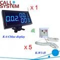 1 компл. беспроводная система вызова медсестры медицинский центр номер дисплея и шнурком кнопку вызова 5 шт. K-W3-H
