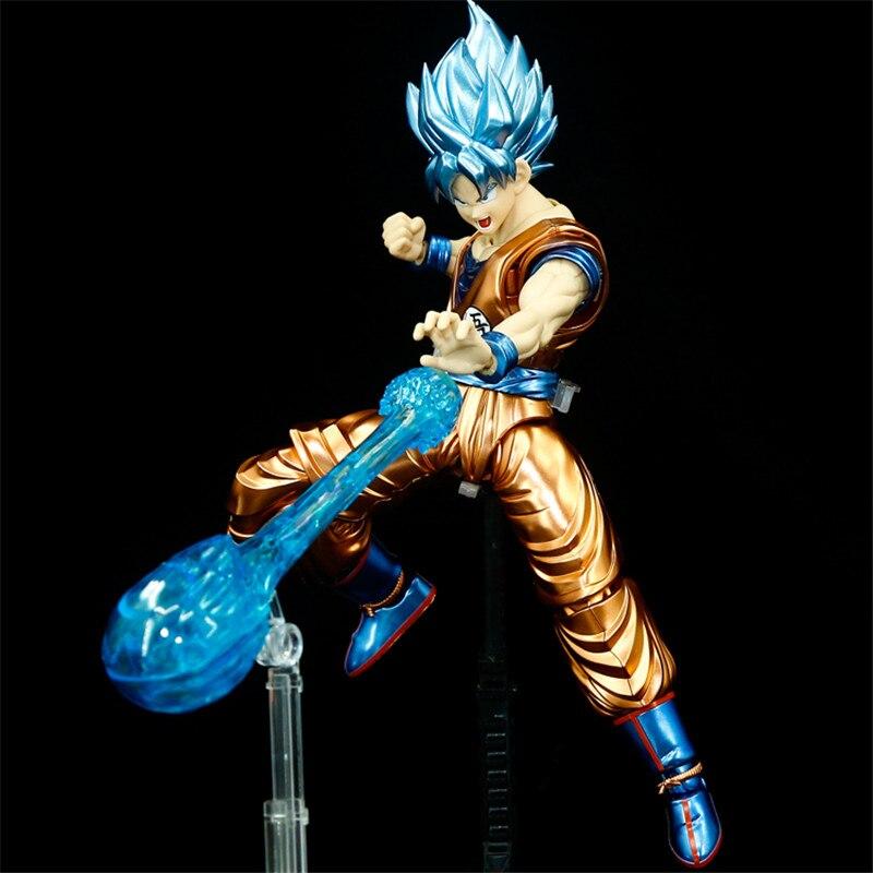 Offre spéciale originale Dragon Ball Super Saiyan bleu Ultra Instinct Goku Migatte métal coloriage Figure modèle Collection jouets