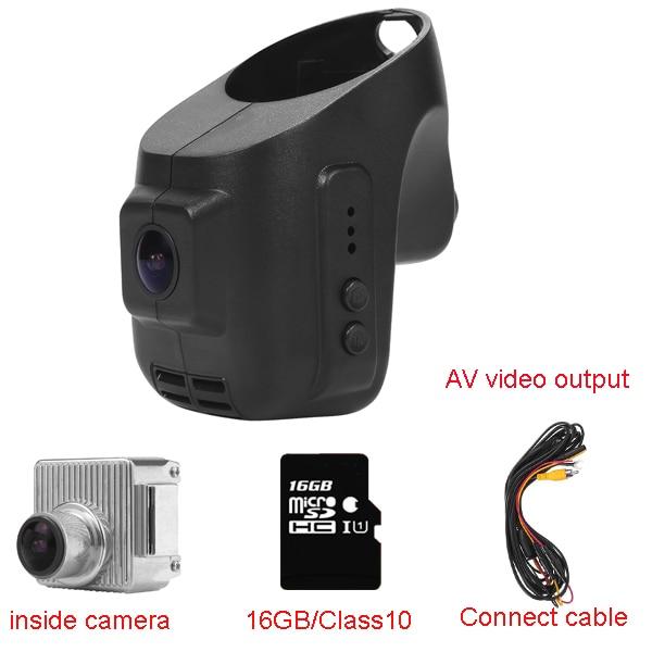 Auto Dash Cam DVR recorder voor Porsche Boxster (jaar 2009 2012) /911 (jaar 2009 2012) met wifi ondersteuning android/ios/av out kabel