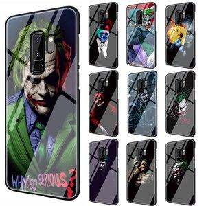 Бэтмен Темный рыцарь Джокер карта закаленное стекло ТПУ черный чехол для Galaxy S7 Edge S8 S9 S10 Plus Note 8 9 10 A10 20 30 40 50 60