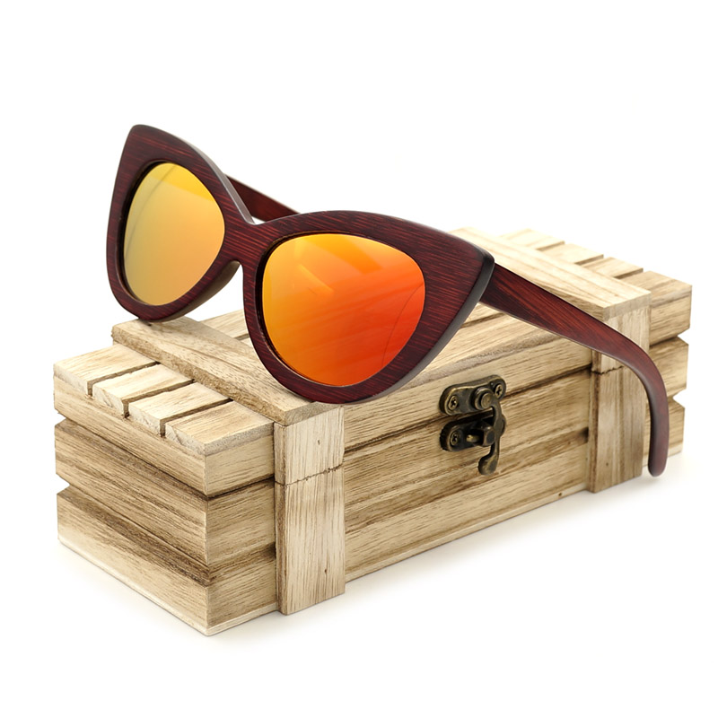 BOBO BIRD Women Sunglasses Color Lens Men Wood Eyewear Polarized Oversize Sun glasses UV400