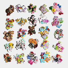 30/50pcs/package Wholesale Mix Styles Random Send Cartoon Flatback Wooden Buttons For Craft DIY Scrapbooking Sewing Crafts L-1