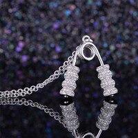 Фитнес изделия стерлингового серебра 925 Для мужчин Jewelry тренажерный зал кулон