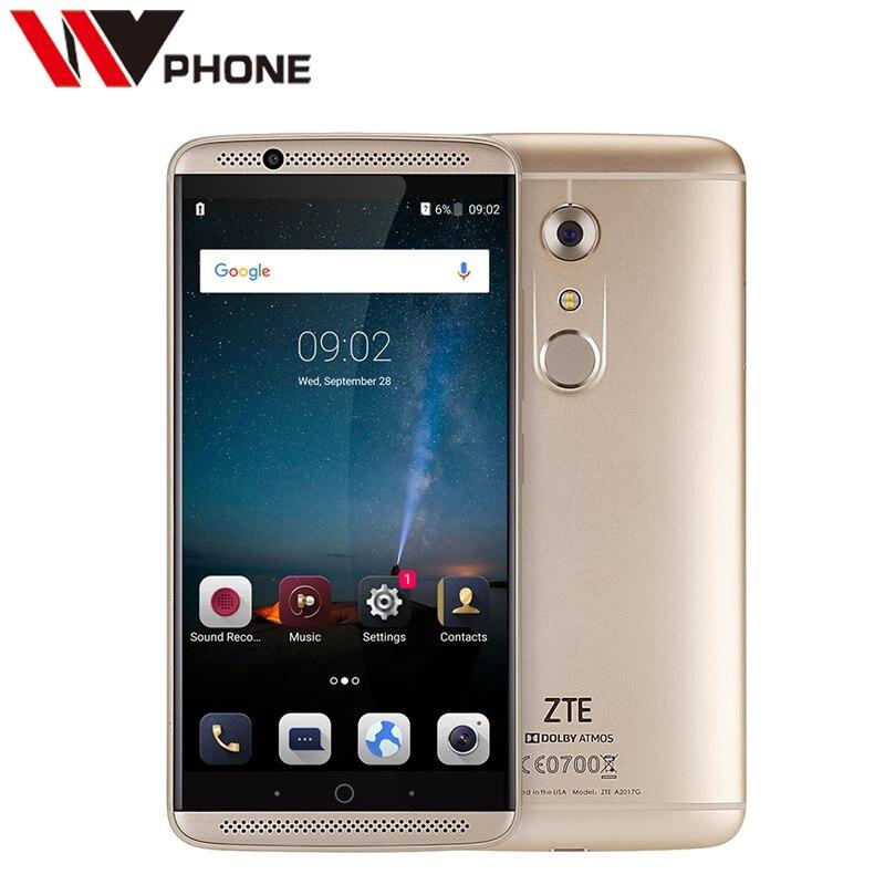 "Original ZTE Axon 7 4G LTE Cell Phone Snapdragon 820 5.5"" 2K 2560X1440 4G RAM 128G ROM 20.0MP Fingerprint ID NFC"