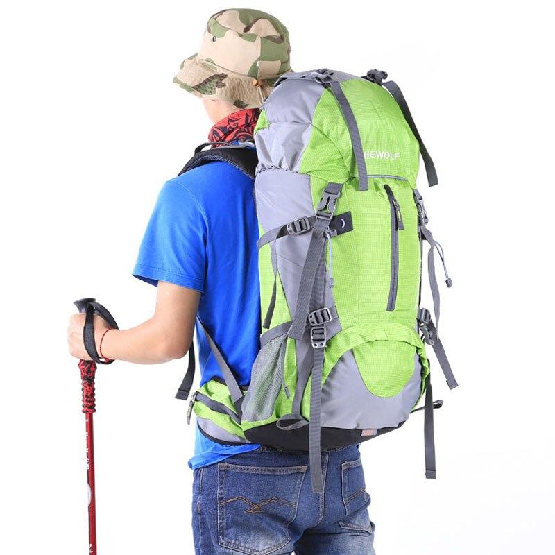 Hewolf grande capacité sacs à dos Camping sacs de sport 50L sac à dos extérieur voyage escalade sacs à dos randonnée sac 04-0011