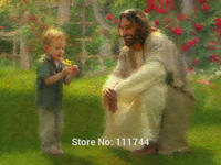 Painting christ portrait art jesus The Dandelion. oil on canvas wall decoration High quality hand painted
