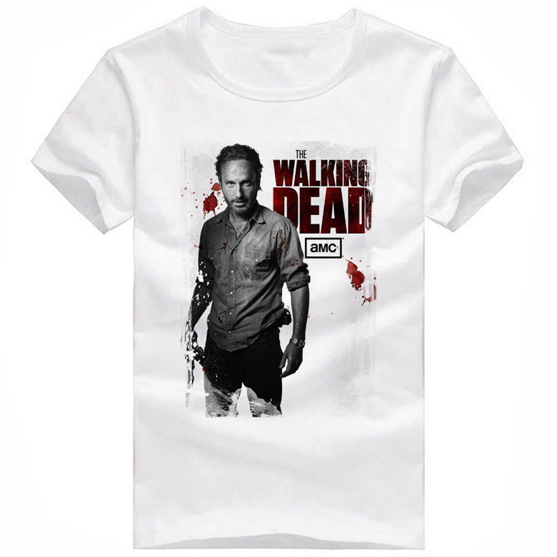 2016 New The Walking Dead T Shirt Men Characters 3D T-Shirt Men Women Brand Clothing Funny Casual Commemorative Tee Shirts Tops