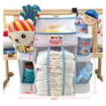 Envío libre Cama de Bebé Colgando Bolsa de Almacenamiento de Juguete Organizador de Bolsillo Del Pañal Recién Nacido del Pesebre de Algodón para ropa de Cama Cuna Set Accesorios