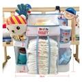 Frete grátis Cama de Bebê Pendurado Saco De Armazenamento de Algodão Recém-nascidos Berço Brinquedo Organizador Fralda de Bolso para Berço Cama Set Acessórios