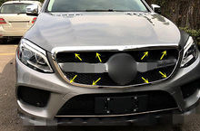 цена на For Benz GLE Coupe C292 2015 2016 Chrome Front Grille Grill Frame Cover Trim New