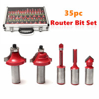 New Arrival 35pcs Set Router Bit 1 2 Shank Tungsten Carbide Router Bits Woodworking Tool High