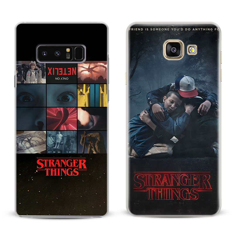 Stranger Things Coque Cover Shell For Samsung Galaxy S4 S5 S6 S7 Edge S8 S9 Plus Note 8 2 3 4 5 A5 A7 J5 2016 J7 2017 Phone Case