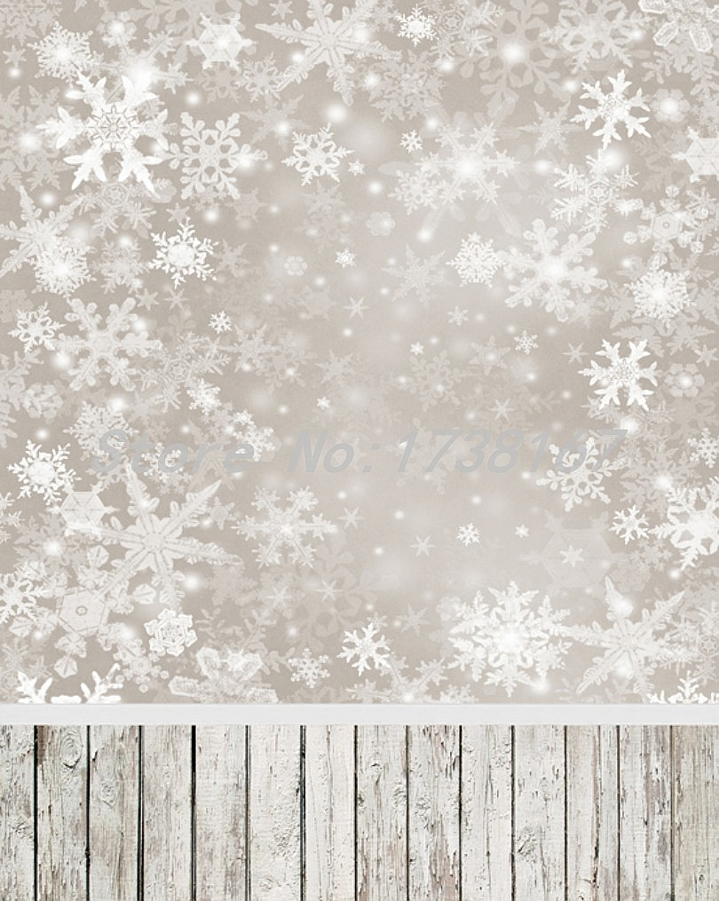 ФОТО 200CM*300CM Christmas Photo Backdrop Snowflake Gray Sky Backgrounds for Baby L885
