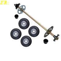 Go Kart комплект для заднего моста комплект + 6 F + R ступицы колес мини ATV квадроцикл Багги 13x5 6