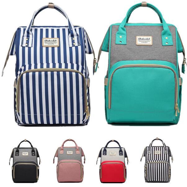Dokoclub Mummy Diaper Bag For Baby Care Nursing Bag Large Capacity Waterproof Portable Travel Bag Daddy Backpack Anti-thief