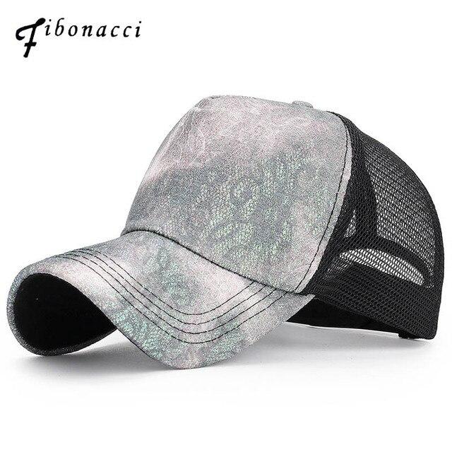 c54f4db49f2 Fibonacci 2019 New Lace Summer Baseball Cap Snapback Hats for Women Gorras  Outdoor Fashion Sunscreen Caps