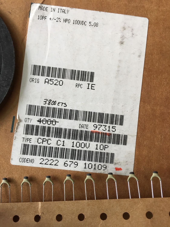 2019 Hot Sale Holland BC 20PCS/50PCS High Frequency Silver Film Ceramic Capacitors 100v10PF 10PF 10P P5 100V Free Shipping