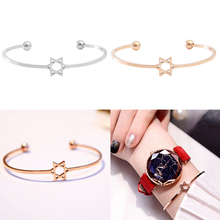 2018 Fashion Hollow Five-pointed Star Bracelet Six-pointed Female Wild Temperament Popular To Send Girlfriend Gift