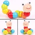 Colorido Bebê Crianças Torção Lagarta Desenvolvimento Educacional De Madeira Brinquedo Infantil Presente
