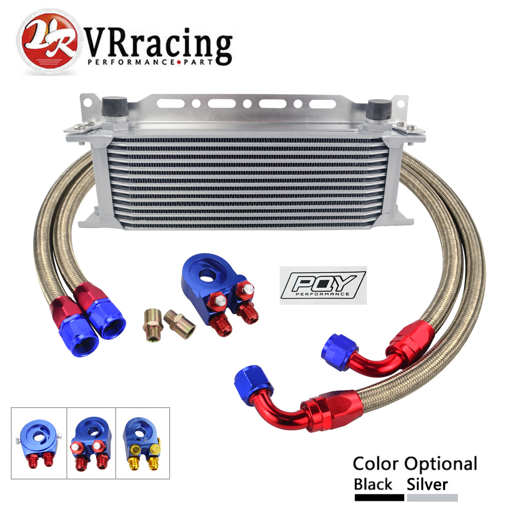 UNIVERSAL 13 ROWS OIL COOLER+OIL FILTER SANDWICH ADAPTER + NYLON STAINLESS STEEL BRAIDED AN10 HOSE + Oil Cooler Mounting BracketUNIVERSAL 13 ROWS OIL COOLER+OIL FILTER SANDWICH ADAPTER + NYLON STAINLESS STEEL BRAIDED AN10 HOSE + Oil Cooler Mounting Bracket