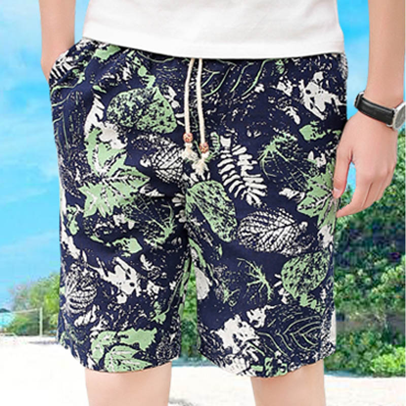 Hot 2019 Outdoor Summer Water Sports Beach 100% cotton Slim Fit Drawstring mens swimming   board     shorts   bermuda surf   Short   trouser